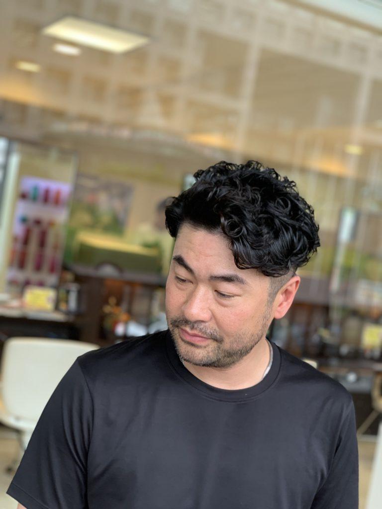 福岡県春日市 美容室 ART of hair アートオブヘアー ツーブロック + クリニックケアパーマ