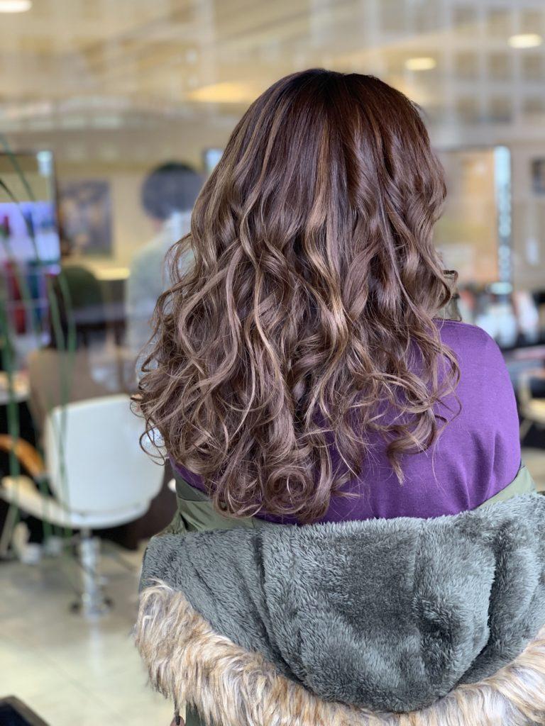 福岡県春日市 美容室 ART of hair アートオブヘアー 外国人風デザインパーマ + カラー