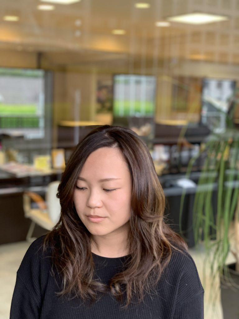 福岡県春日市 美容室 ART of hair アートオブヘアー 外国人風ハイライト + オージュア