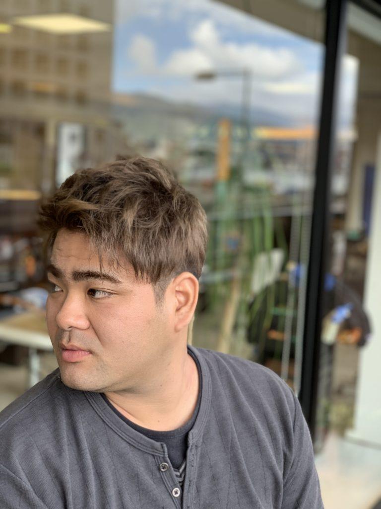 福岡県春日市 美容室 ART of hair アートオブヘアー アップバング トリプルカラー