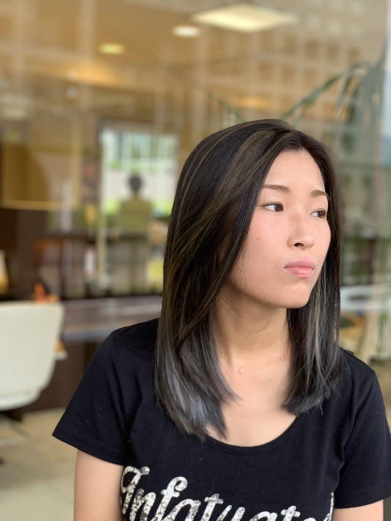 福岡県春日市 美容室 ART of hair アートオブヘアー 外国人風ハイライト (施術例4)