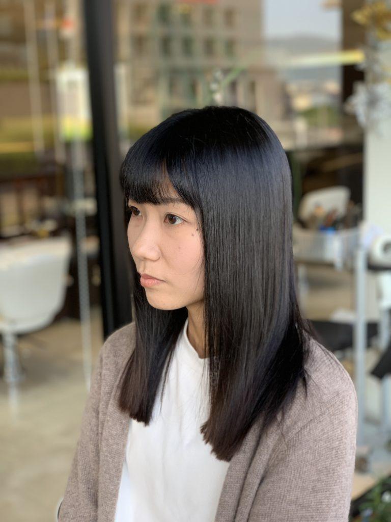 福岡県春日市 美容室 ART of hair アートオブヘアー スラットストレート + オージュア