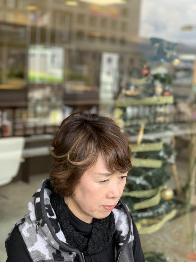 福岡県春日市 美容室 ART of hair アートオブヘアー 大人の外国人風ハイライト