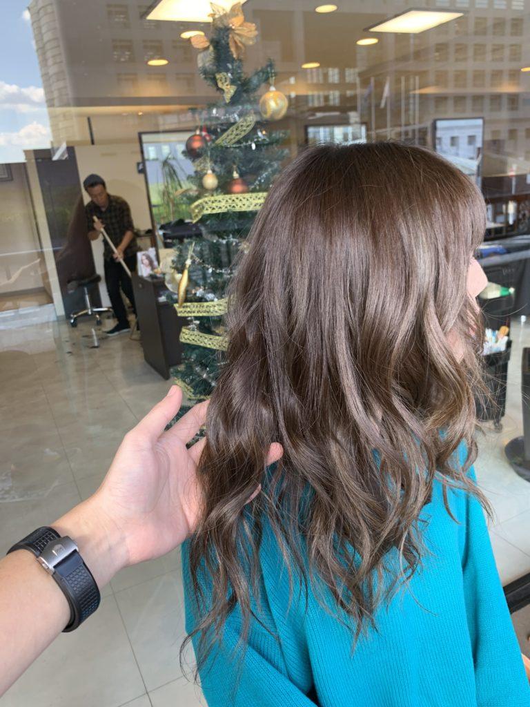 福岡県春日市 美容室 ART of hair アートオブヘアー 外国人風デザインカラー セピアグレージュ