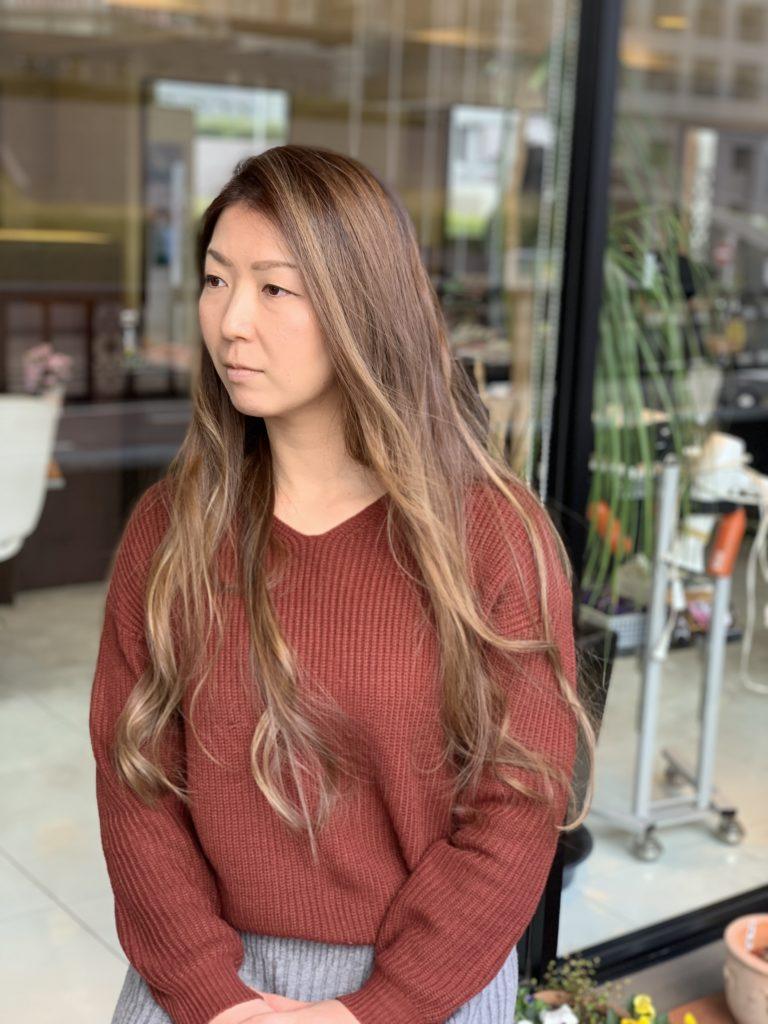 福岡県春日市 美容室 ART of hair アートオブヘアー オーダーメイド外国人風デザインカラー