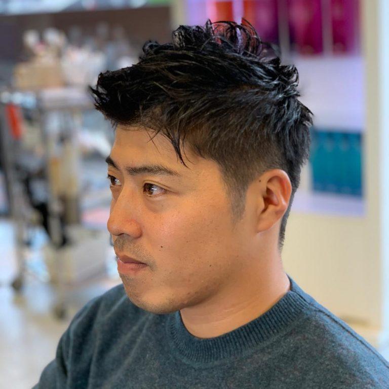 福岡県春日市 美容室 ART of hair アートオブヘアー メンズ ピンパーマ
