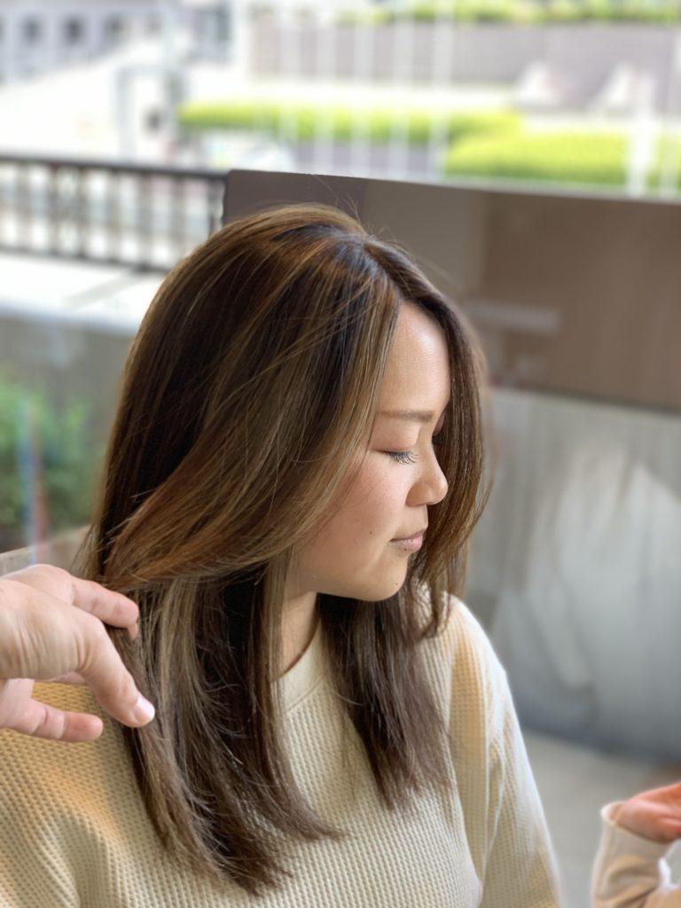 福岡県春日市 美容室 ART of hair アートオブヘアー オーダーメイド外国人風デザインカラー ホワイトグレージュ