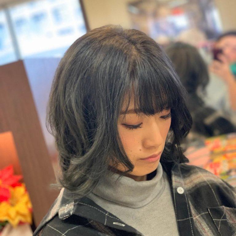 福岡県春日市 美容室 ART of hair アートオブヘアー オージュアコース(カラー、カット、トリートメント) ブルーブラック