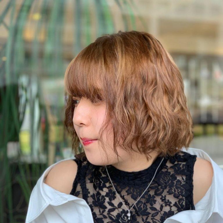 福岡県春日市 美容室 ART of hair アートオブヘアー ボブ 外国人風デザインカラー
