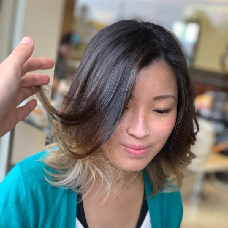 福岡県春日市 美容室 ART of hair アートオブヘアー ブリーチ 毛先のみ