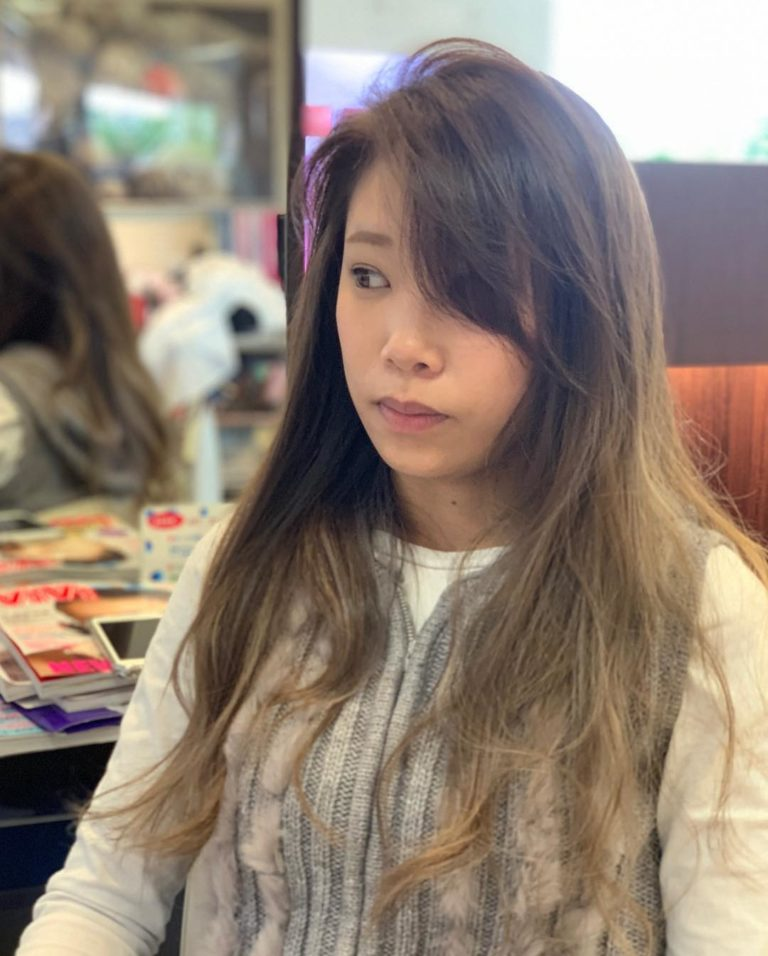 福岡県春日市 美容室 ART of hair アートオブヘアー 外国人風デザインカラー