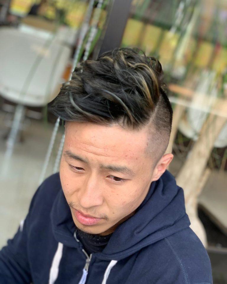 福岡県春日市 美容室 ART of hair アートオブヘアー 外国人風デザインカラー ディープブルー ホワイトグレージュ