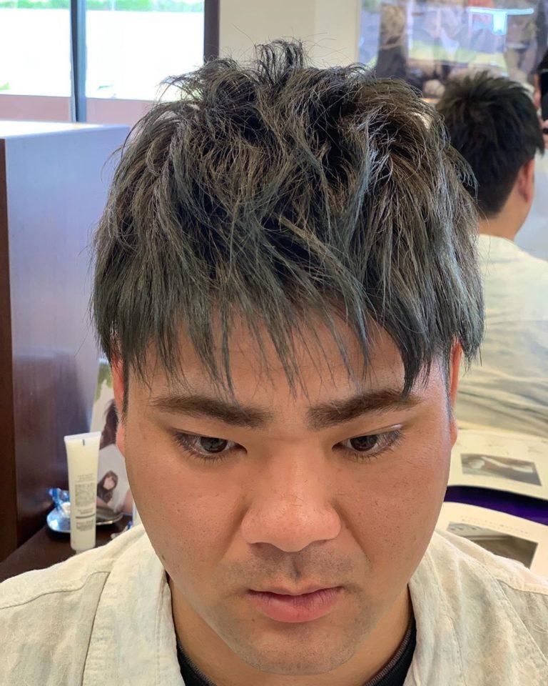 福岡県春日市 美容室 ART of hair アートオブヘアー メンズ 外国人風デザインカラー