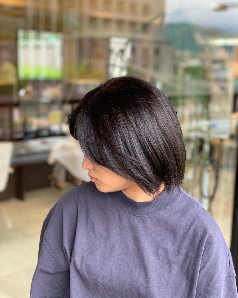 福岡県春日市 美容室 ART of hair アートオブヘアー 外国人風デザインカラー インディゴブルー