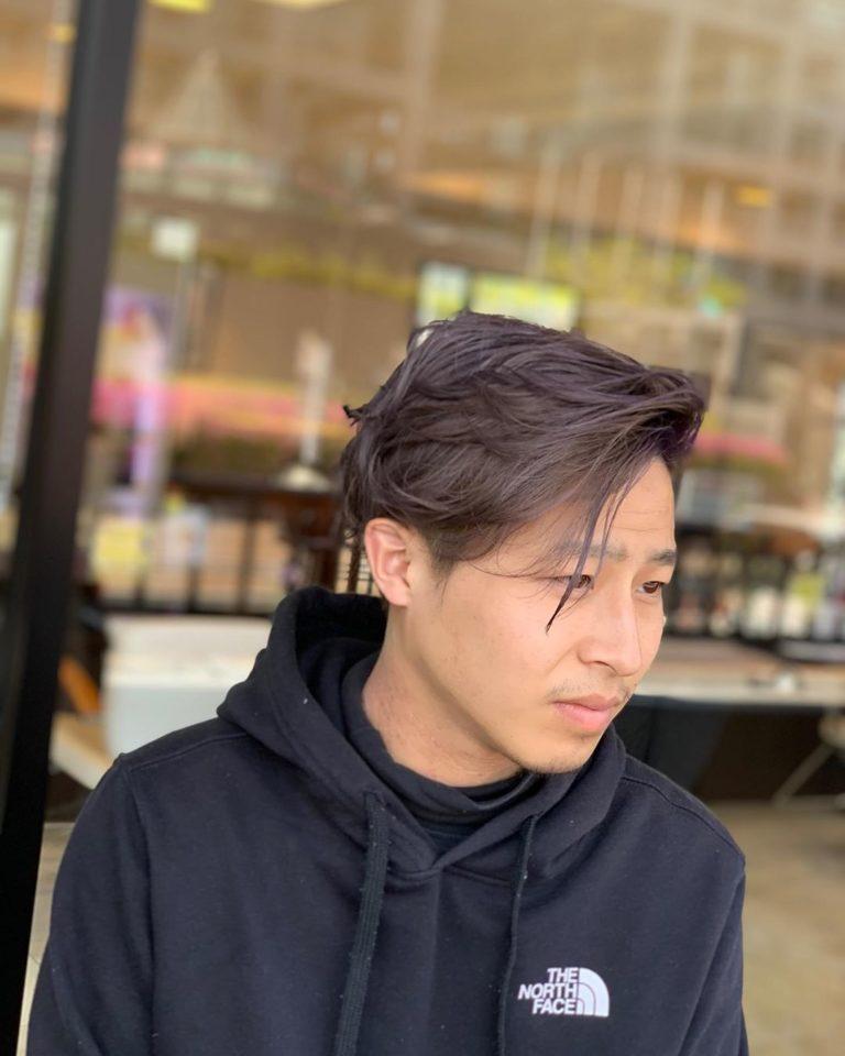 福岡県春日市 美容室 ART of hair アートオブヘアー オーダーメイド外国人風デザインカラー グレーパールからライラック