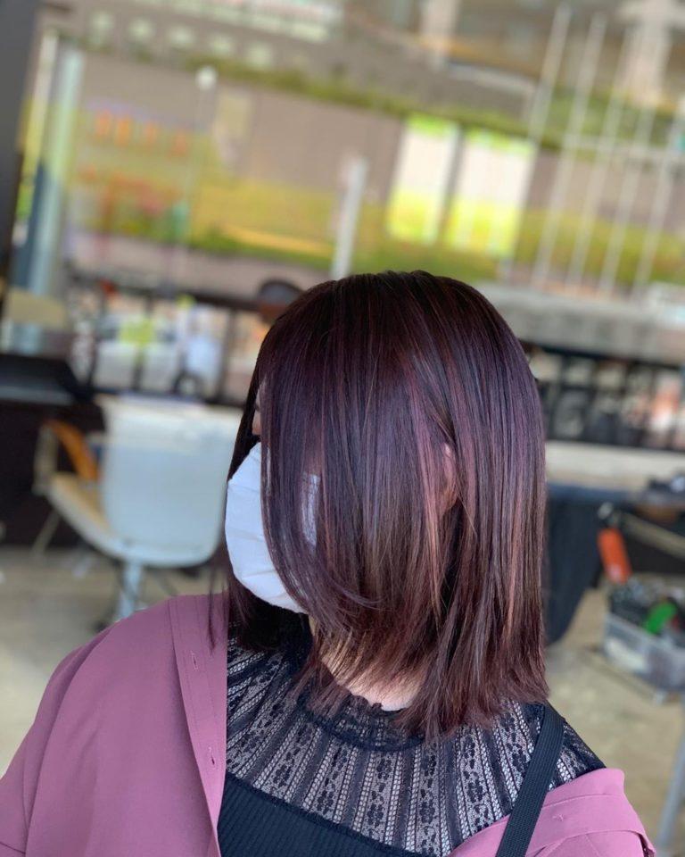 福岡県春日市 美容室 ART of hair アートオブヘアー 外国人風デザインカラー ピンクベージュ