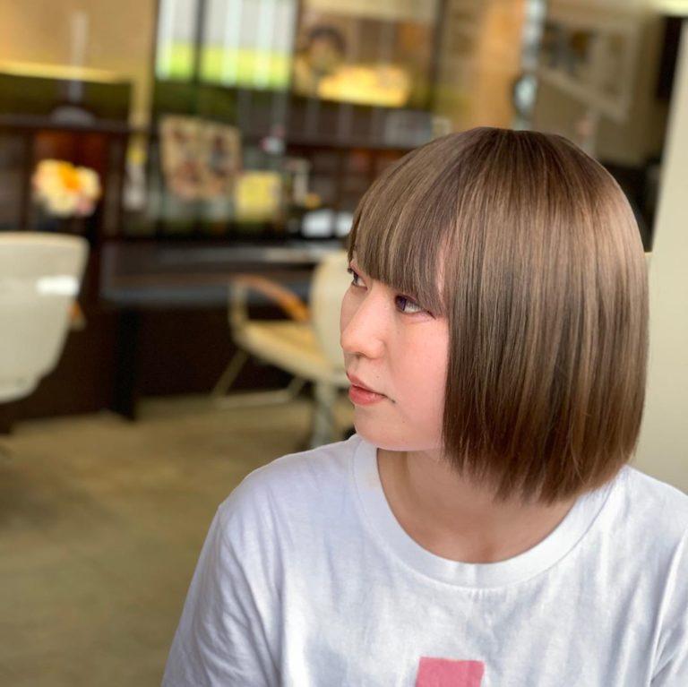 福岡県春日市 美容室 ART of hair アートオブヘアー 黒染め履歴からのケアブリーチ、リメイクカラー