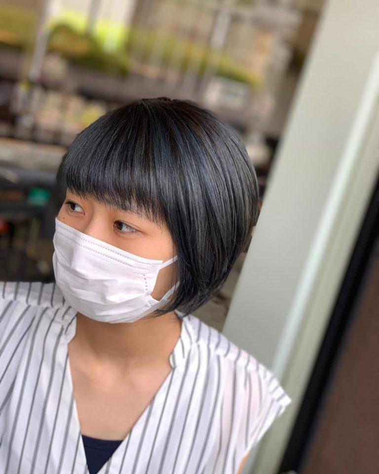 福岡県春日市 美容室 ART of hair アートオブヘアー 外国人風グラデーション ディープブルーアッシュ