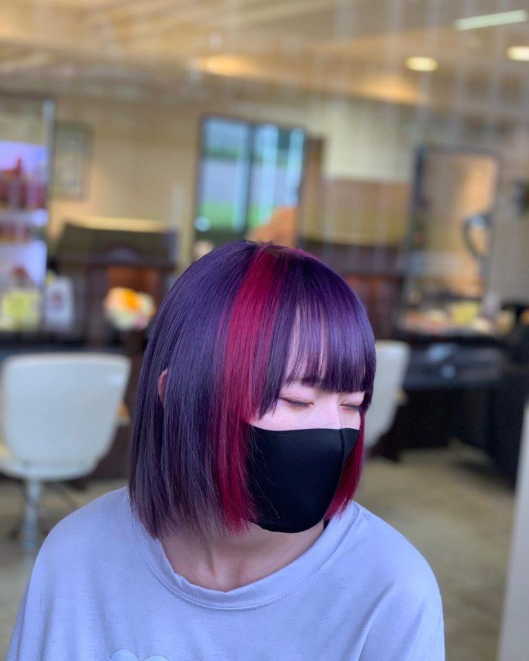 福岡県春日市 美容室 ART of hair アートオブヘアー オーダーメイドデザインカラー 派手髪 ボブ