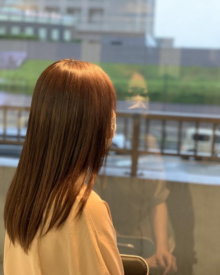 福岡県春日市 美容室 ART of hair アートオブヘアー 梅雨のうねり対策 縮毛矯正 ロング