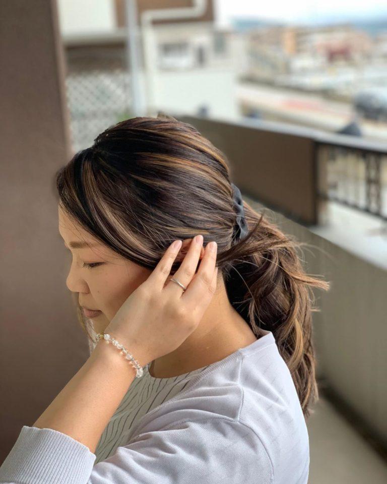 福岡 春日 大野城 筑紫野 美容室 美容院 ART of hair アートオブヘアー セミロング 外国人風デザインカラー ハイライト、ローライト