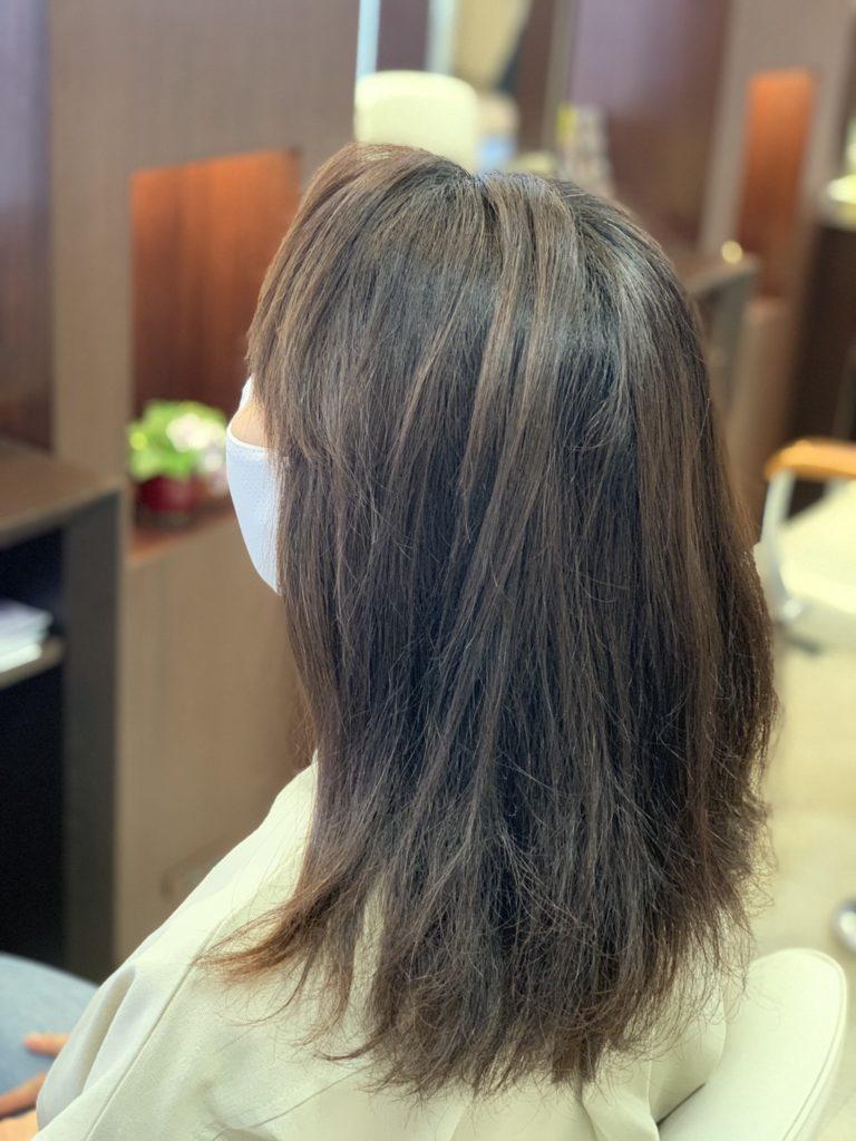 福岡県春日市 美容室 ART of hair アートオブヘアー 白髪染め オージュアコース(ヴィラロドラカラー) オリーブブラウン